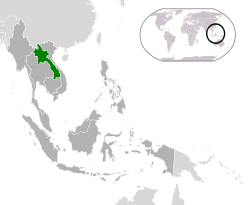 map of laos